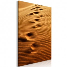 Quadro - Traces on the Sand (1 Part) Vertical