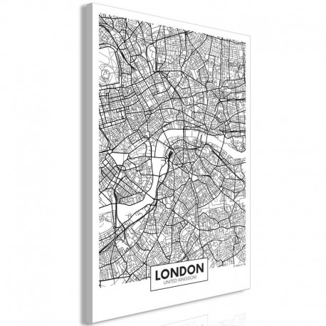 Cuadro - Map of London (1 Part) Vertical