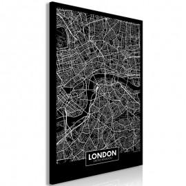 Cuadro - Dark Map of London (1 Part) Vertical