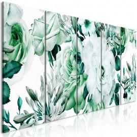 Cuadro - Rose Composition (5 Parts) Narrow Green