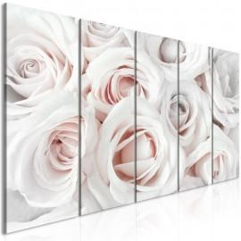 Cuadro - Satin Rose (5 Parts) Narrow Pink