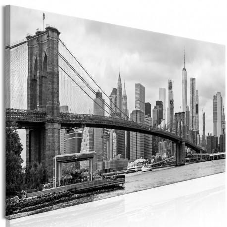 Cuadro - Road to Manhattan (1 Part) Narrow Black and White
