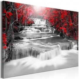 Quadro - Cascade of Thoughts (1 Part) Wide Red