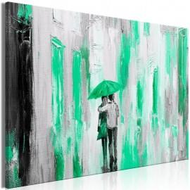 Cuadro - Umbrella in Love (1 Part) Wide Green