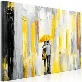 Cuadro - Umbrella in Love (1 Part) Wide Yellow
