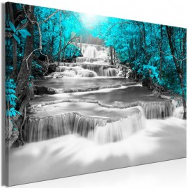 Quadro - Cascade of Thoughts (1 Part) Wide Turquoise