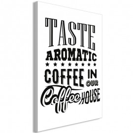 Cuadro - Taste Aromatic Coffee in Our Coffee House (1 Part) Vertical