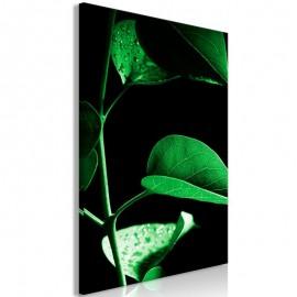 Quadro - Plant in Black (1 Part) Vertical
