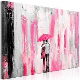 Cuadro - Umbrella in Love (1 Part) Wide Pink