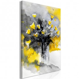 Cuadro - Bouquet of Colours (1 Part) Vertical Yellow