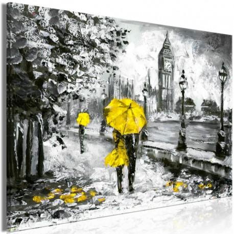Cuadro - Walk in London (1 Part) Wide Yellow