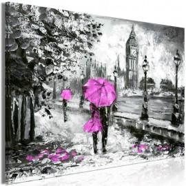 Cuadro - Walk in London (1 Part) Wide Pink