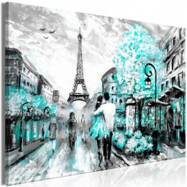 Cuadro - Colourful Rendez-Vous (1 Part) Wide Turquoise