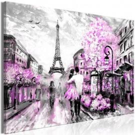 Quadro - Colourful Rendez-Vous (1 Part) Wide Pink