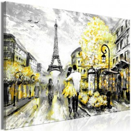 Cuadro - Colourful Rendez-Vous (1 Part) Wide Yellow