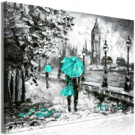Quadro - Walk in London (1 Part) Wide Turquoise