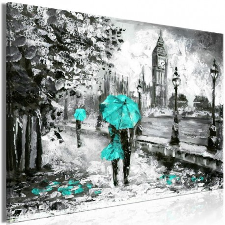 Cuadro - Walk in London (1 Part) Wide Turquoise
