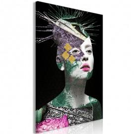 Quadro - Colourful Portrait (1 Part) Vertical