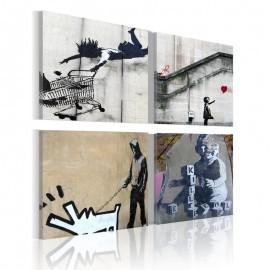 Quadro - Banksy - quatro idéias orginal
