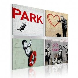Quadro - Banksy - inspiração urbana