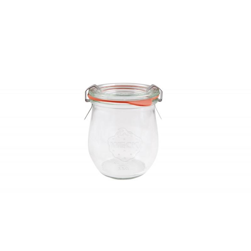 Tarros weck tulip con tapa de vidrio y cierres - Tarros de cristal con tapa ...