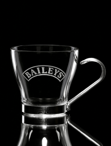 Taza de café de cristal serigrafíada logos