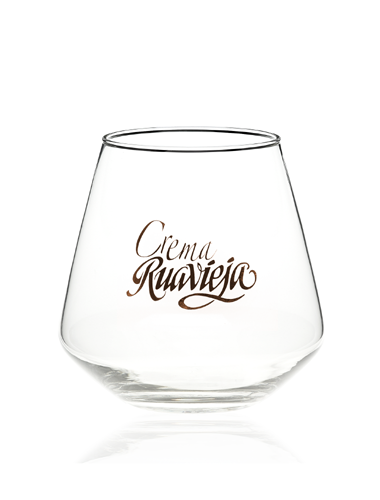 vaso orujo con logotipo marcado serigrafíado