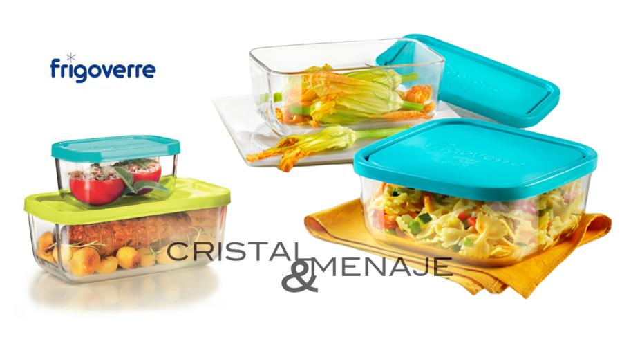 Envase rectangular apto nevera congelador y microondas