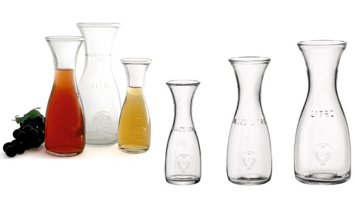 Jarra botella cristal para servir vino