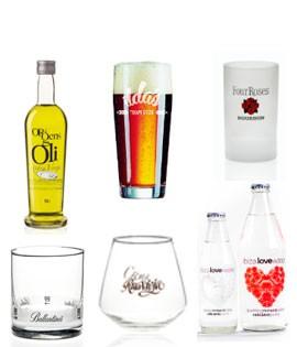 Personalización de copas, vasos y botellas de cristal y vidrio